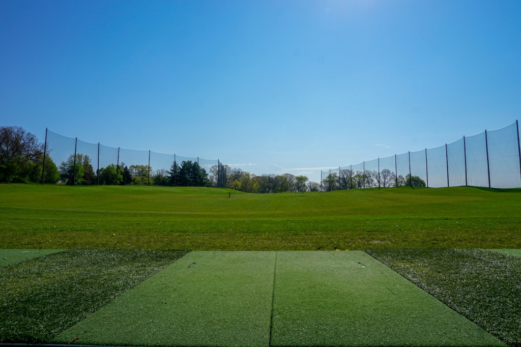 Driving range at Indian Trails Golf Course.
